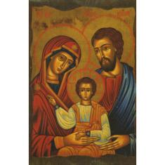 Obraz na dreve: Svätá rodina - ikona (10x6,5)