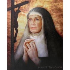 Obraz na dreve: Svätá Rita (30x20)
