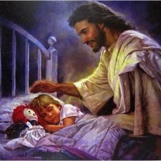 Obraz na dreve: Pán Ježiš a dieťa (30x30)