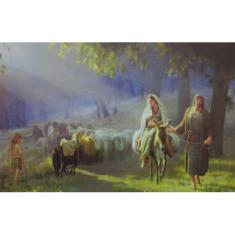 Obraz na dreve: Kto dá prístrešie svätej Rodine? (40x30)