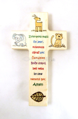 Kríž drev. so zvieratkami (N 446/SK)
