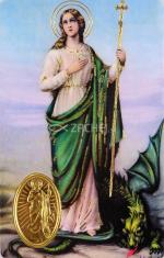 Kartička: Svätá Marta (rcc) - s modlitbou, plastová