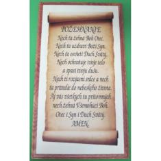 Obraz na dreve: Požehnanie (45,5x25,5) - perg.