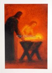 Pozdrav: Betlehem - s textom (VP003) - s obálkou