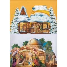 Betlehem papierový skladací / V
