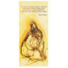 Pohľadnica vianočná/SF - Žltá Martin Rázus