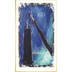 Pohľadnica vianočná/SF - Modrý akvarel FIAT!