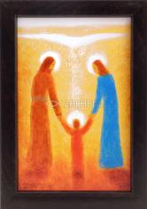 Obraz v ráme: Svätá rodina (15x10) - so stojančekom