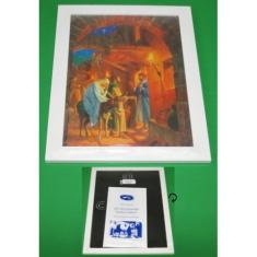 Obraz: Sv. rodina, s predvianočným deviatnikom (33,7 x 24,5)