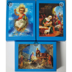 Mini Puzzle: vianočné - modré - 40 dielov