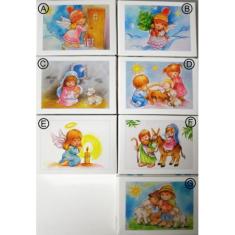 Mini Puzzle: vianočné - biele - 40 dielov