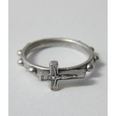 Prsteň kov. + krížik - 17 mm
