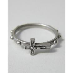 Prsteň kov. + krížik - 19 mm
