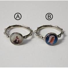 Prsteň kov. + medaila - 21 mm