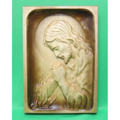 Drevorezba: Modliaci sa Ježiš (DR-2B)