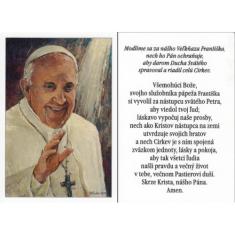 Obrázok: pápež František - Modlitba za Sv. Otca Františka; laminovaný, A7