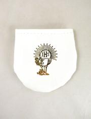 Púzdro na ruženec - suchý zips (biele)