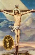 Kartička: Ukrižovaný Ježiš (RCC) - s modlitbou, plastová