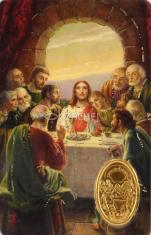 Kartička: Posledná večera (RCC 669) - s modlitbou, plastová
