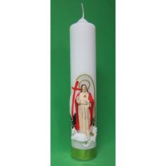 Sviečka: kostolná, zdobená - Vzkriesený Kristus - 400g Lux