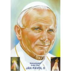 Obrázok: Bl. Sv. Otec Ján Pavol II. (A5) - s modlitbou