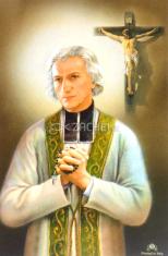 Obrázok: Sv. Ján Mária Vianney - s modlitbou, papierový