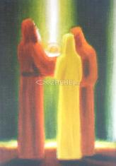Pozdrav: Simeon predpovedá Márii utrpenie jej syna - bez textu - s obálkou