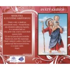 Skladačka: Sv. Krištof - s modlitbou