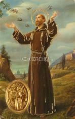 Kartička: Svätý František z Assisi (RCC) - s modlitbou, plastová