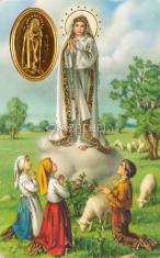 Kartička: Panna Mária Fatimská (RCC) - s modlitbou, plastová