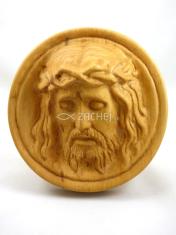 Drevorezba: Hlava Krista v kruhu (C32)