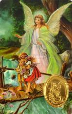 Kartička: Anjel strážny (RCC) - s modlitbou, plastová