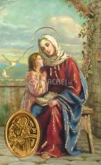 Kartička: Svätá Anna (rcc) - s modlitbou, plastová
