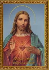 Obrázok: Božské srdce (A5) - s modlitbou