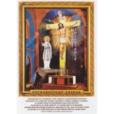 Obrázok: Eucharistický zázrak (A5) - s modlitbou