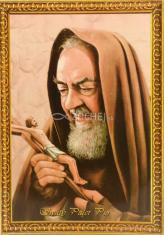 Obrázok: Páter Pio - s modlitbou, A6