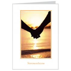 Pozdrav: Pre novomanželov - s textom (SB002) - s obálkou