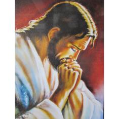 Obraz na dreve: Modliaci sa Pán Ježiš (30 x 20)
