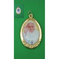 Medailón Sv. Otec František (4,5 x 3 cm); žltý