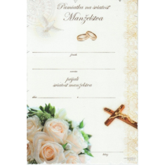 Pamiatka na sviatosť Manželstva (04.0040-2)