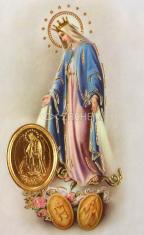 Kartička: Panna Mária Zázračnej medaily (RCC) - s modlitbou, plastová