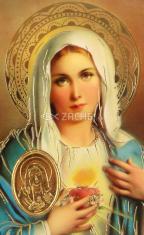 Kartička: Srdce Panny Márie (RCC) - s modlitbou, plastová