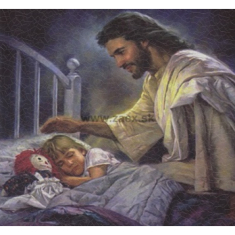 Obraz na dreve: Pán Ježiš a dieťa (20x15)