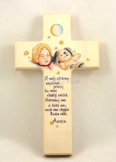 Kríž: drevený, detský s modlitbou (N403/SK)
