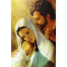 Obraz na dreve: Svätá rodina - farebná (40x30)
