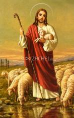 Obrázok: Dobrý pastier (275/29) - Ďakovná modlitba, laminovaný