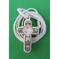 Prívesok: krížik -  Sv. otec František (CC 222) - drevený