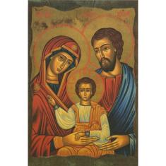 Obraz na dreve: Svätá rodina - ikona (15x10)