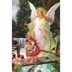 Obraz na dreve: Anjel strážny (15x10)