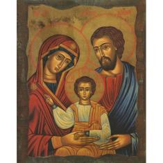 Obraz na dreve: Svätá rodina - ikona (25x20)
